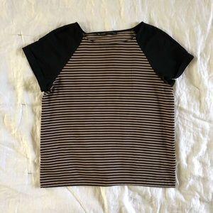 Striped raglan top